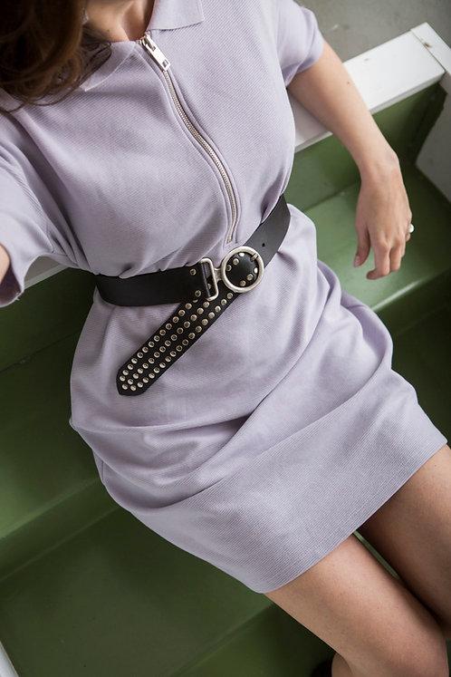 """Circle of life"" leather belt"