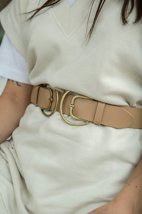 """Adore double"" leather belt"