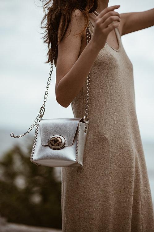 """""""Night air"""" silver shoulder/belt bag"""