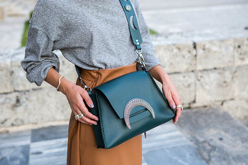 """Half light FW2021"" cypress green shoulder bag"