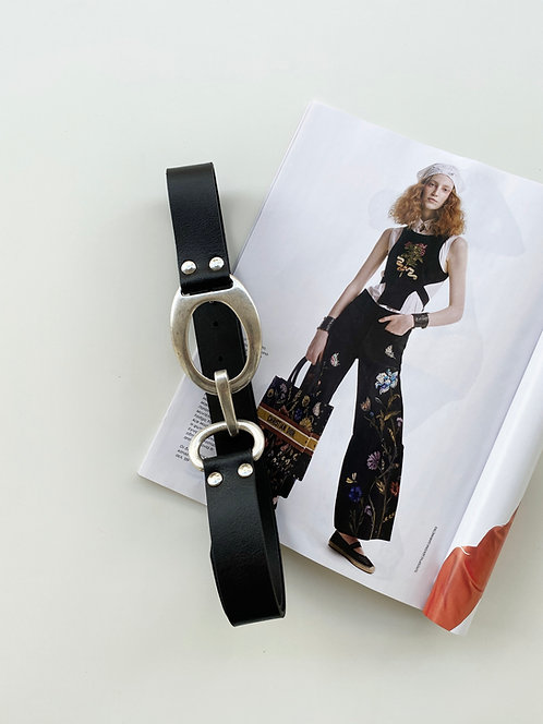 """Under pressure"" leather belt"