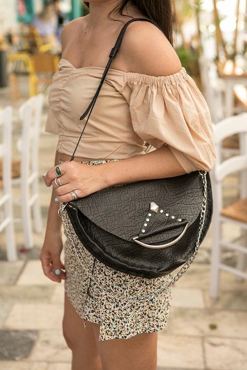 """""""Anagnorisis"""" shoulder bag in black"""