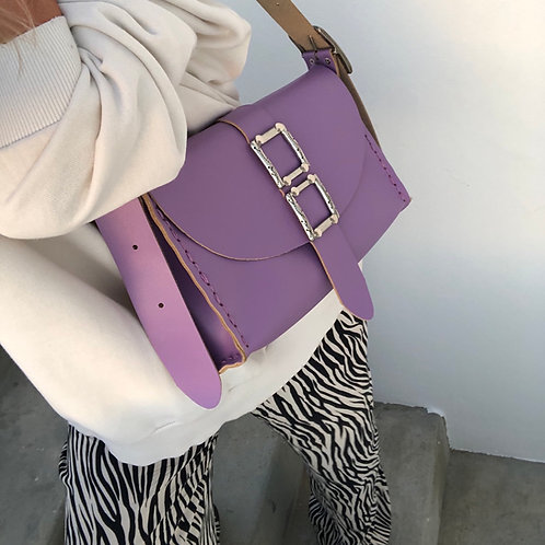 """Lift me up"" purple shoulder bag"