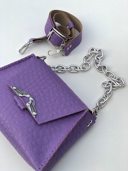"""""""Wings"""" purple shoulder bag"""