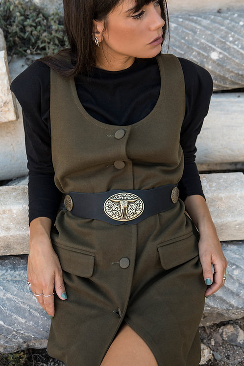 """Black magic woman"" leather belt"