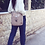 """Thumbnail: """"The Greatest"""" suede shoulder bag"""
