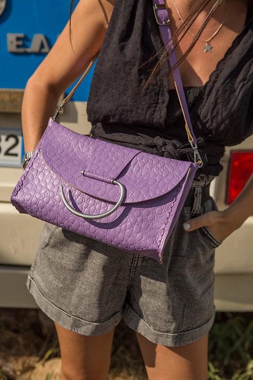 """Senorita"" lilac shoulder/clutch bag"
