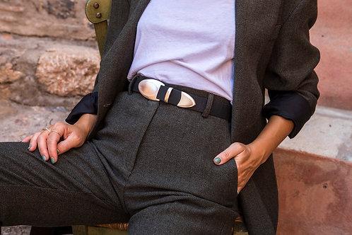 """Let it be"" leather belt"