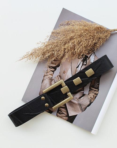 """Take on me"" leather belt (printed)"
