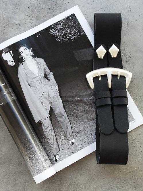 """Heroes"" leather belt"