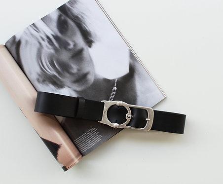 """""""Isolation"""" leather belt"""