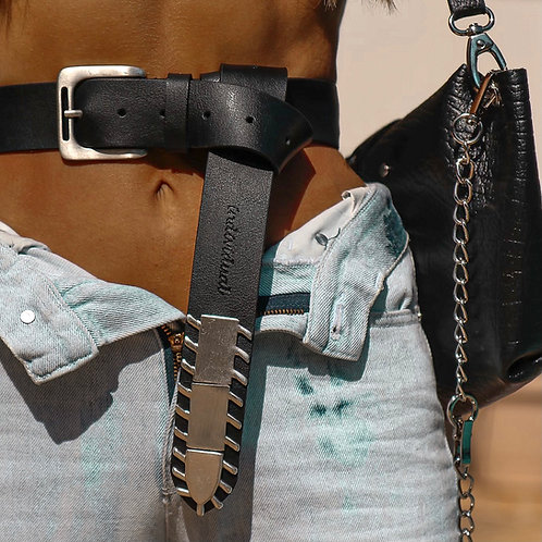 """""""Wildfires"""" leather belt"""