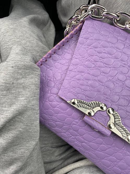 """Wings"" lilac shoulder bag"