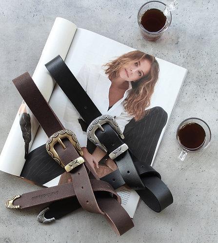 """She's a rainbow"" leather belt"