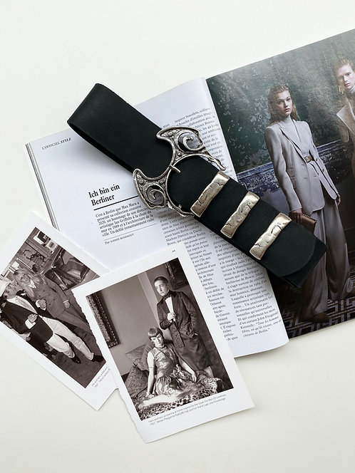"""""""Electrical storm"""" leather belt"""