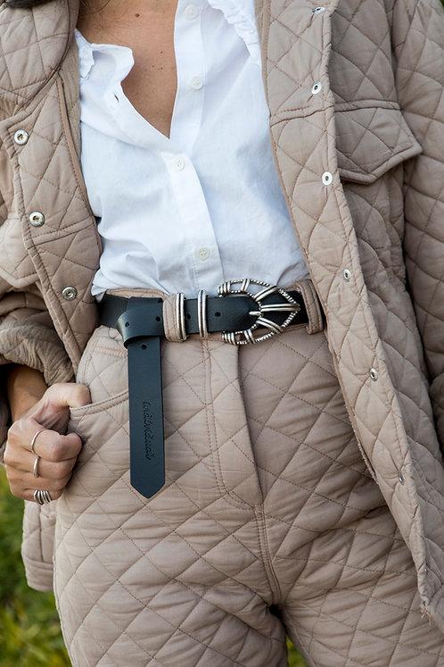 """Fire"" leather belt"