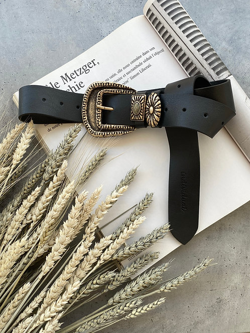 """Rejoice"" leather belt"