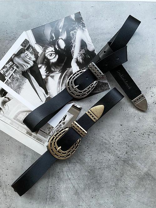 """Time"" leather belt"