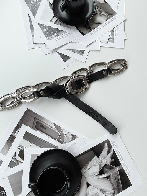 """Nightrain"" leather belt"