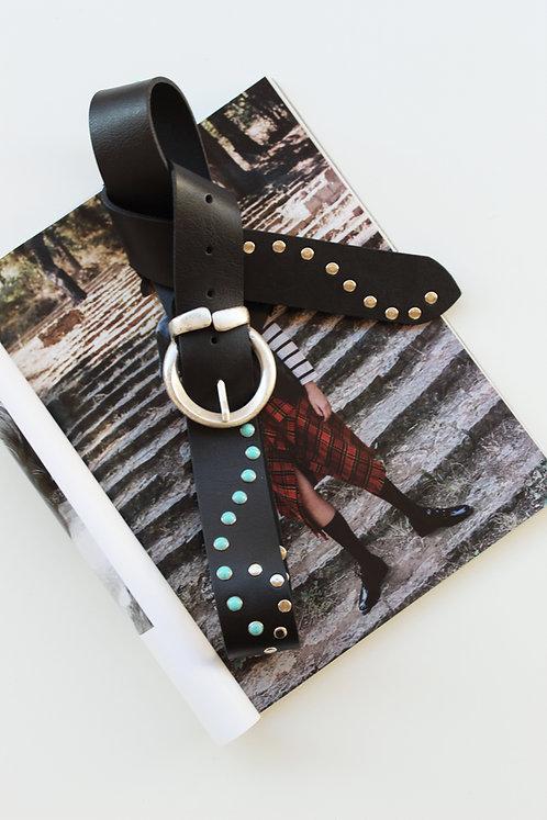 """""""Blue eyes"""" leather belt"""