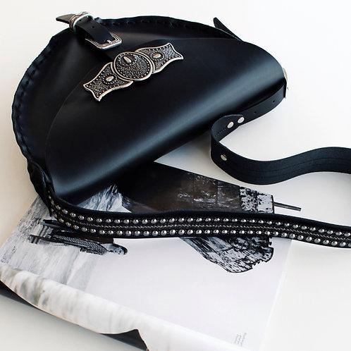 """""""Nemesis"""" black shoulder bag"""