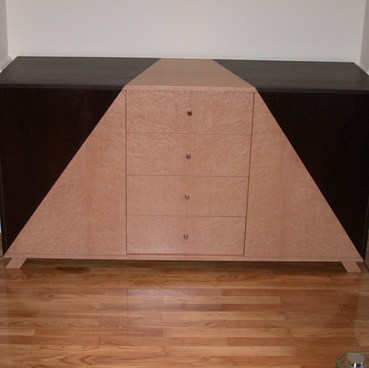 Wenge and Ash Audio Cabinet