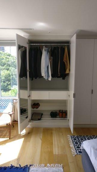 Satin White Wardrobe della-Porta design