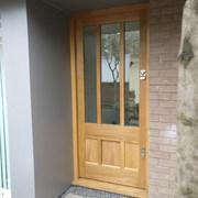 Oak Front Door with Dog Flap