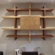 Three Oak Wall Cabinet