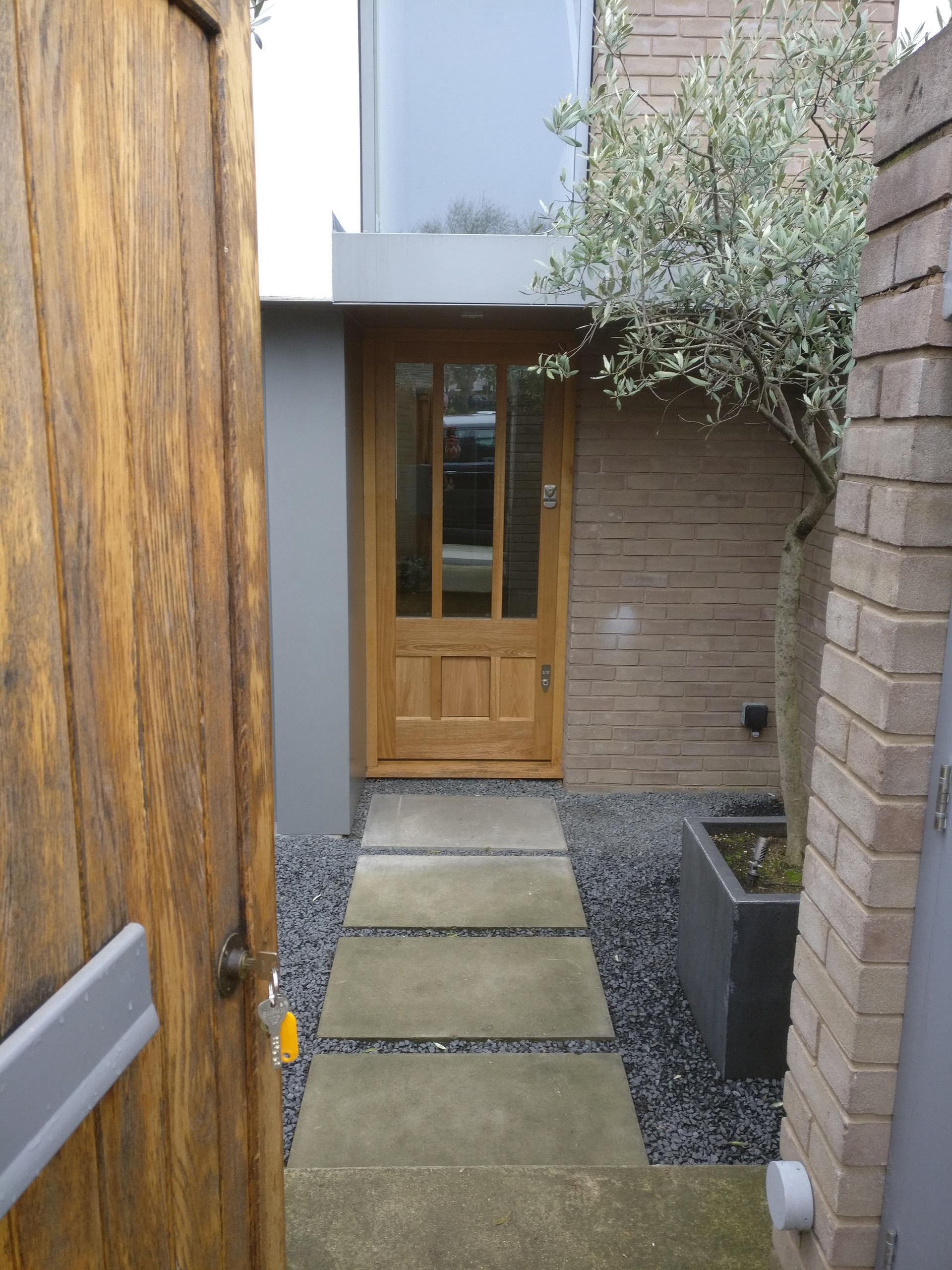 Front Door with Dog Flap della-Porta design