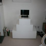 White Lacquer TV Cabinet