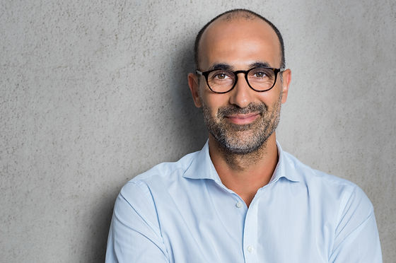 Man wearing varifocals