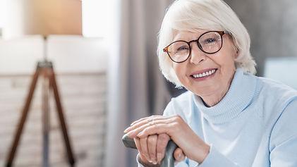 elderly lady wearing glasses