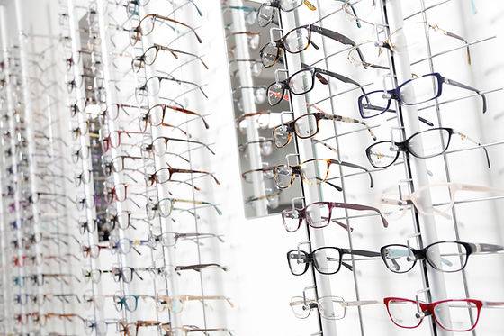 Glasses on display at our store