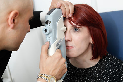 Patient have their eye pressure tested