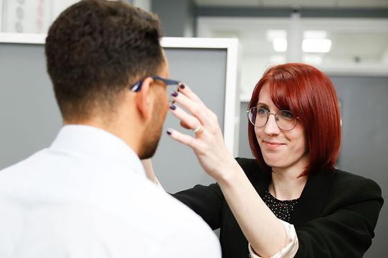 Optical advisor fitting glasses