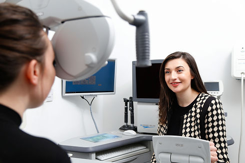 Optometrist in the consulting room