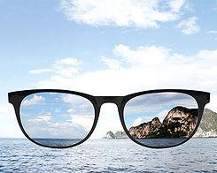 Photo illustrating polarized lenses