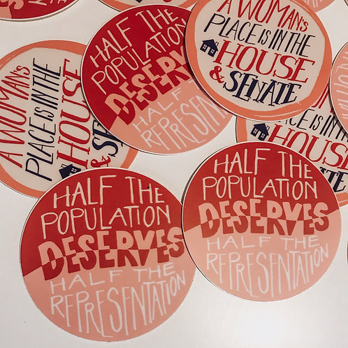 Votes for Women // Half the Population Sticker