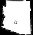 Arizona-Outline---USA-State-Map-Phoenix-