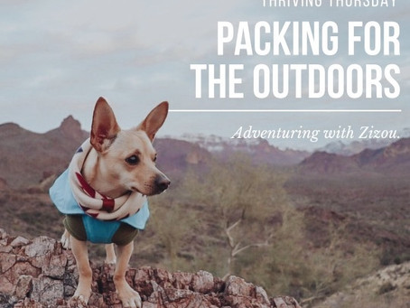 Adventuring with Zizou: Packing for the Outdoors