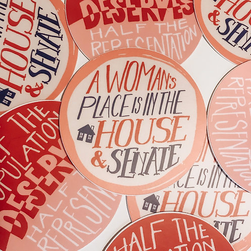 Votes for Women // House& Senate Sticker
