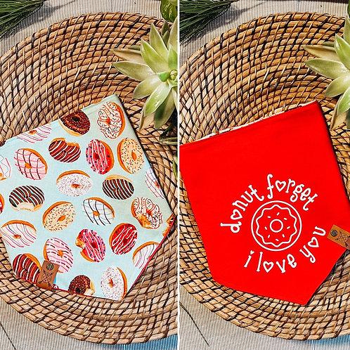 Donut Forget // Adjustable Reversible Bandana