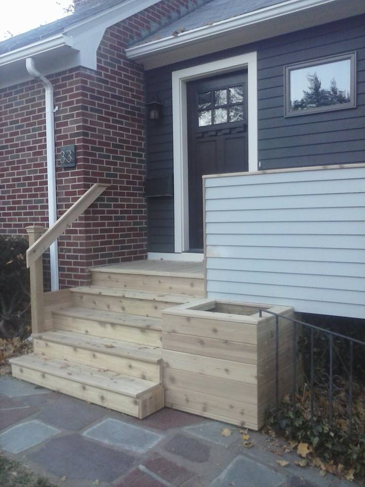New stairs and planter box