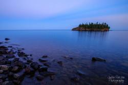 Lake Superior Calm Sunset