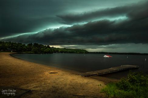Lake Altoona Beach Storm Front