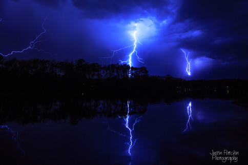Eau Claire River Lightning