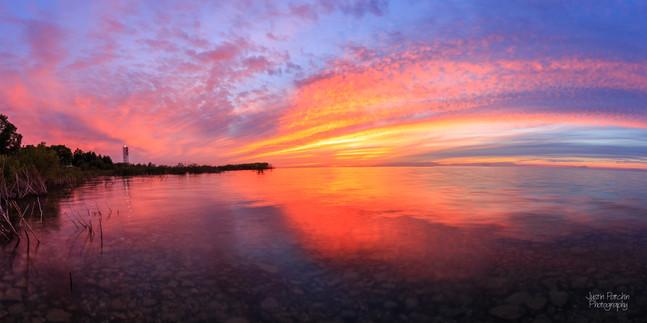 Grand Traverse Lighthouse Sunset