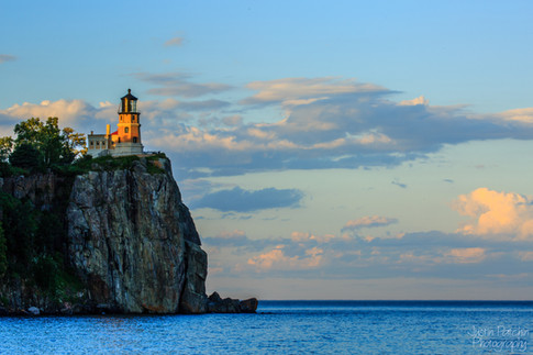 Split Rock Lighthouse Serene Sunset