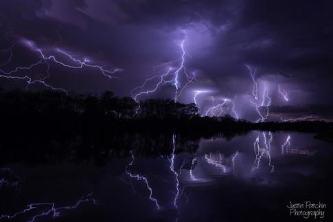 Eau Claire River Lightning - Composite